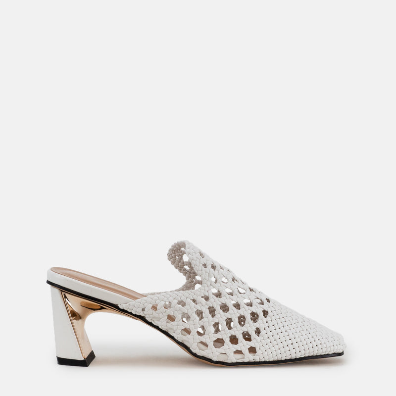 Darcy-Women shoes-Block heel-White-Side View-JULKÉ
