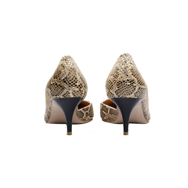 Snake Patterned Bisque - Women Shoes