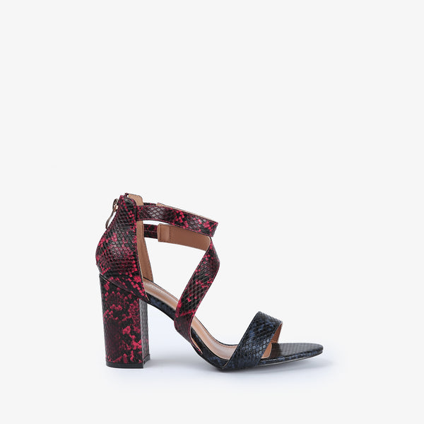 Mezmer-Women shoes-Block Heels-Multi colour-Side View-JULKÉ