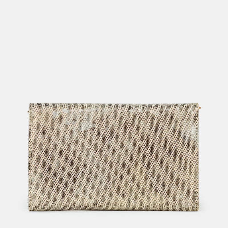Amelia - Gold Clutch For Ladies - Back View - Julke