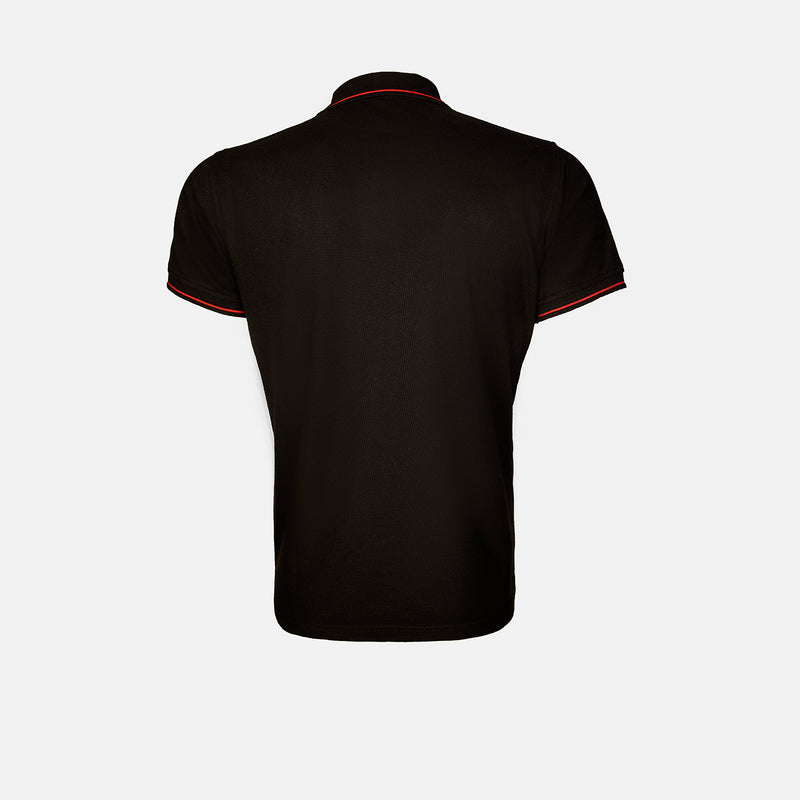Alistair - Mens Polo Shirt in black color - Julke