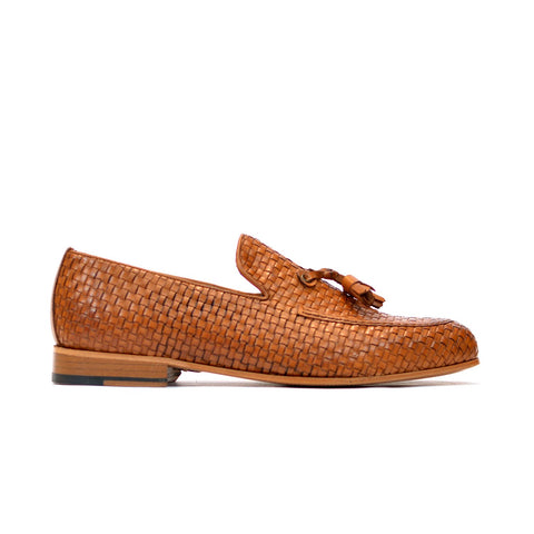 Brutus - Quilted men leather shoes in tan color - Julke