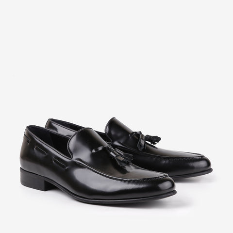 Alec - Mens tassel loafer in black color - Julke