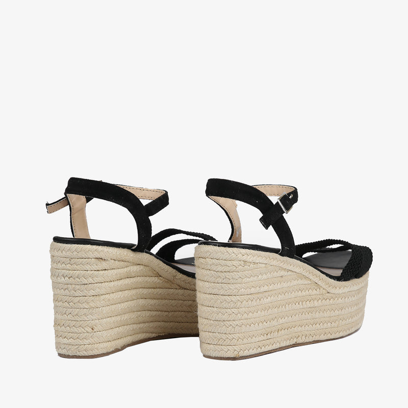 Laurel-Women shoes-Wedges-Wedge heels-Black-Back View-JULKÉ
