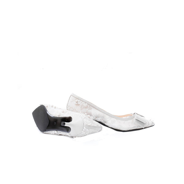 Irene - Grey kitten heels shoes for women - Julke