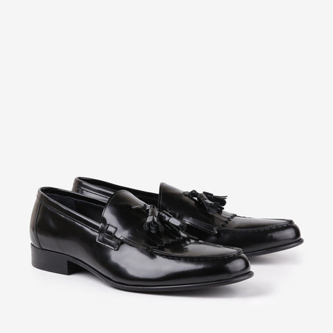 Opera - Mens Tassel leather shoes in black color - Julke
