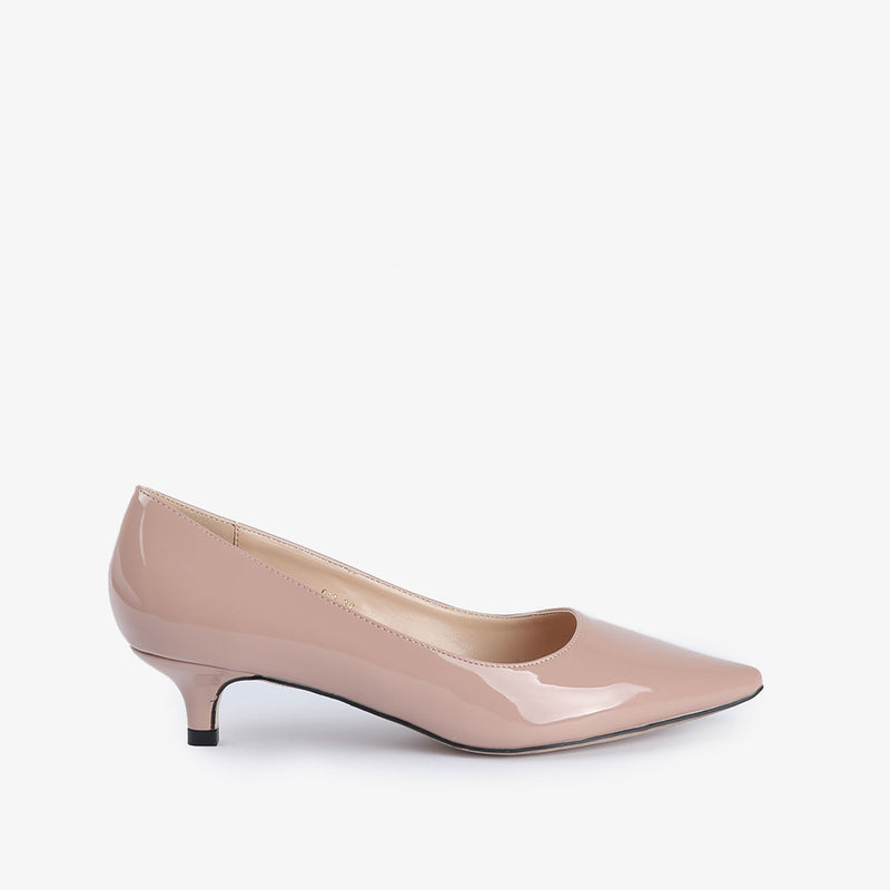 Ellen-Women shoes-Kitten Heels-Pink-Side View-JULKÉ