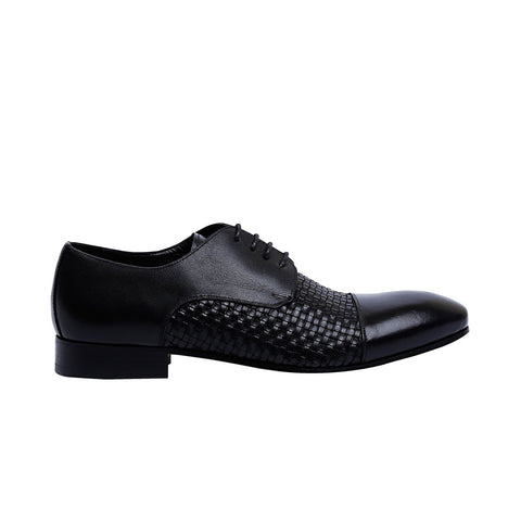 Troy - Black color - Men leather Shoes - Julke