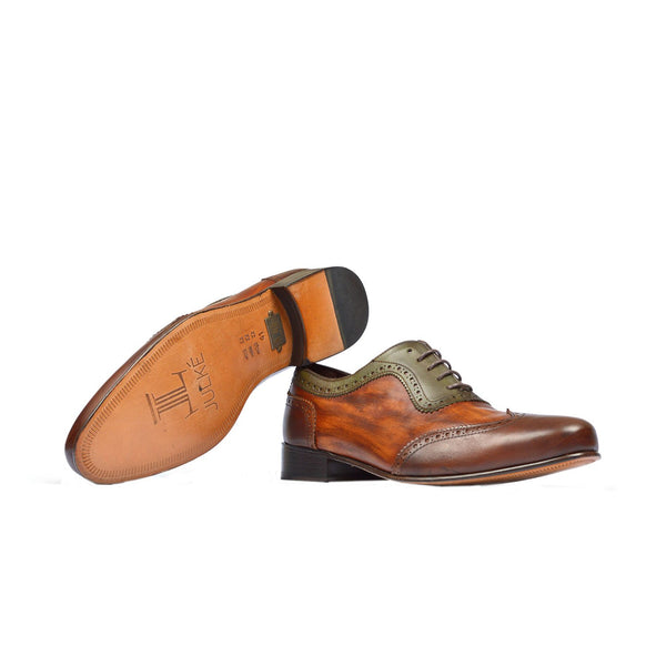 Emperor - Mens leather shoes in two tone finish - Julke