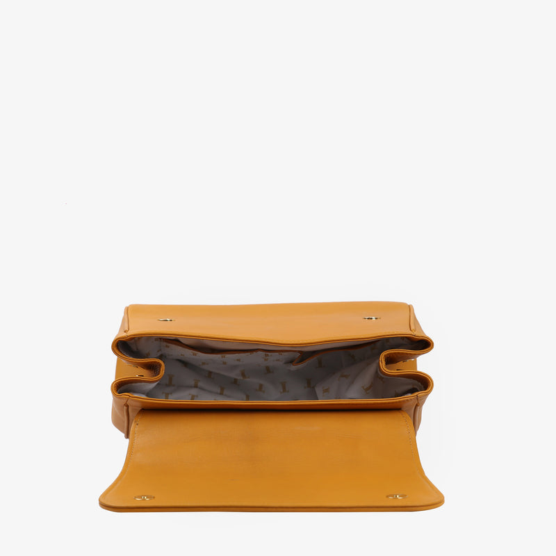 Eileen - Mustard Color women leather bag - Julke