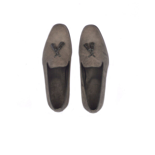 Benson - Tassel loafers for men in grey color - Julke