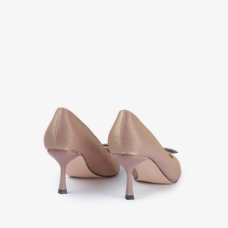 Kierra-Women shoes-Heels-Gold-Back View-JULKÉ