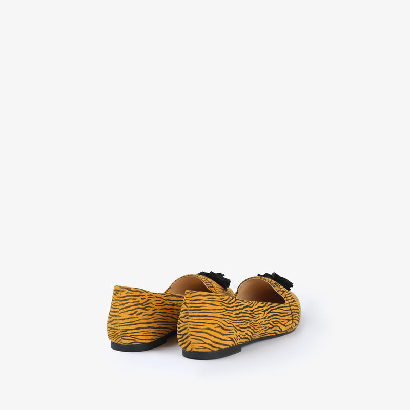 Zephyr-Women shoes-Moccasins-Flat Shoes-Yellow-Back View-JULKÉ