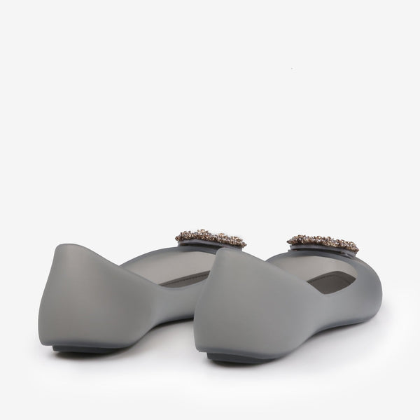 Nell - Flat Jelly shoes for women in grey color - Julke