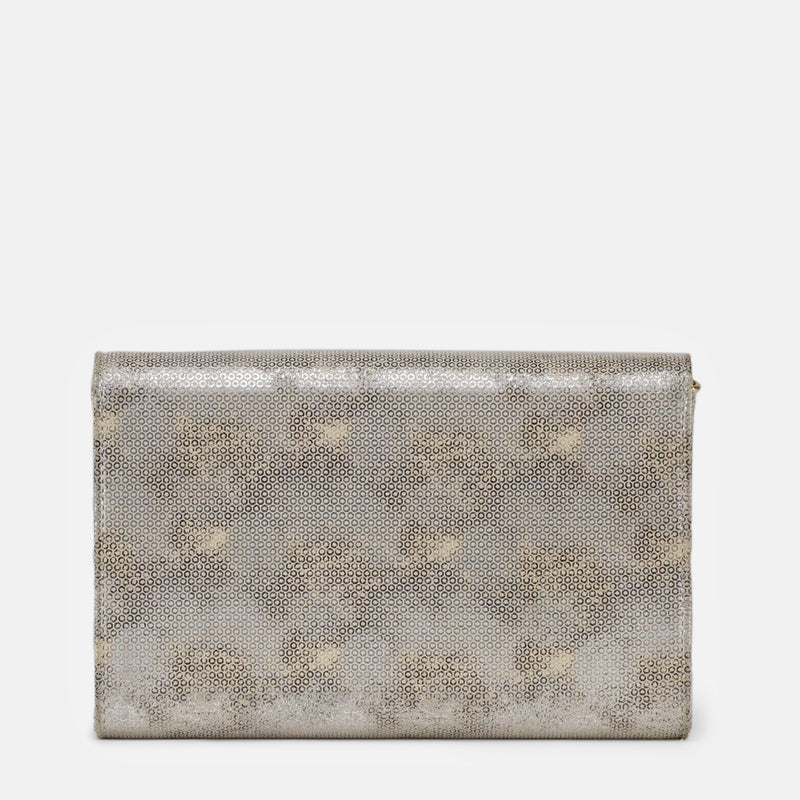Amelia - Silver Clutch For Ladies - Back View - Julke