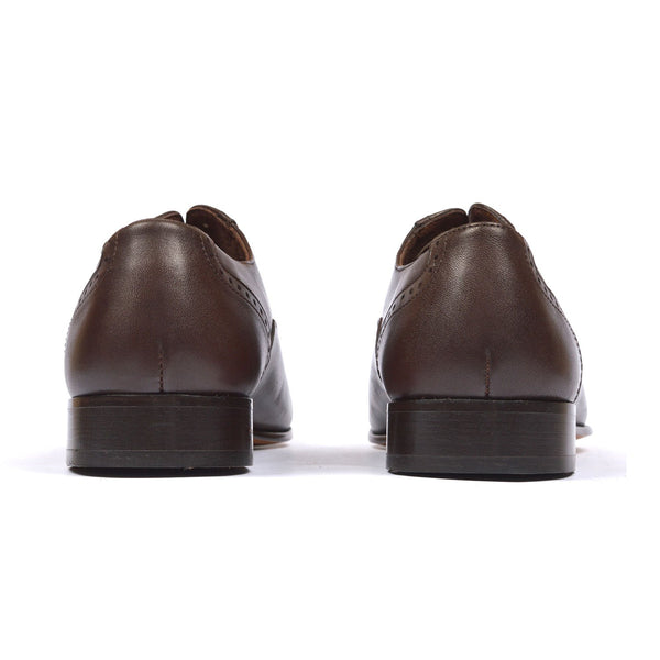 Oxford - Men leather shoes in brown color - Julke