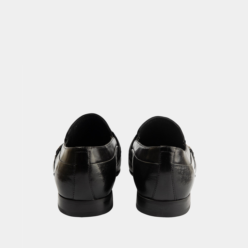 Adrian - Men Leather Shoes in Black color - JULKE