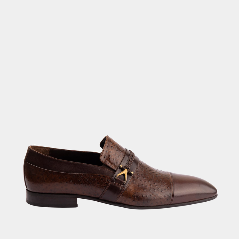 Adrian - Men Leather Shoes in brown color - JULKE