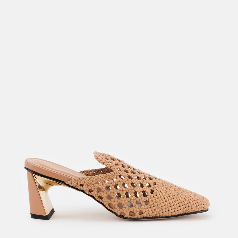 Darcy-Women shoes-Block heel-Beige-Side View-JULKÉ