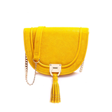 Halfmoon - Yellow color handbag for women - Julke