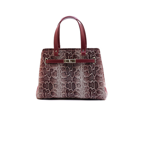 Snakeskin Patterned Bag Wine - Women Bags