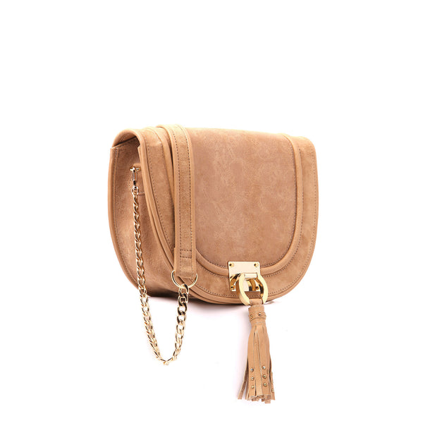 Halfmoon - Beige color handbag for women - Julke