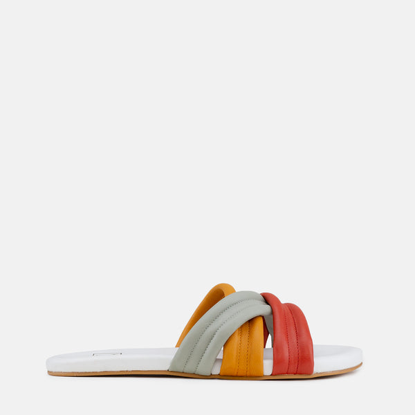 Lexi-Women shoes-Flats-Slides-Multi colour-Side View-JULKÉ