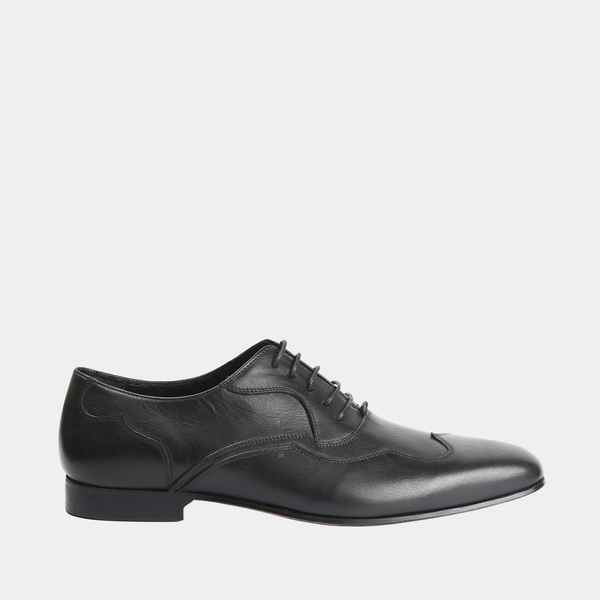 Stavros - Mens black leather shoes - Julke