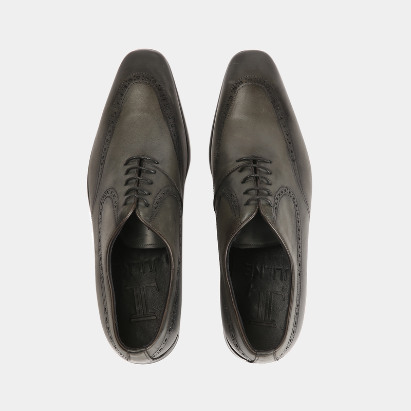 Theo-Men leather shoes grey color - Julke