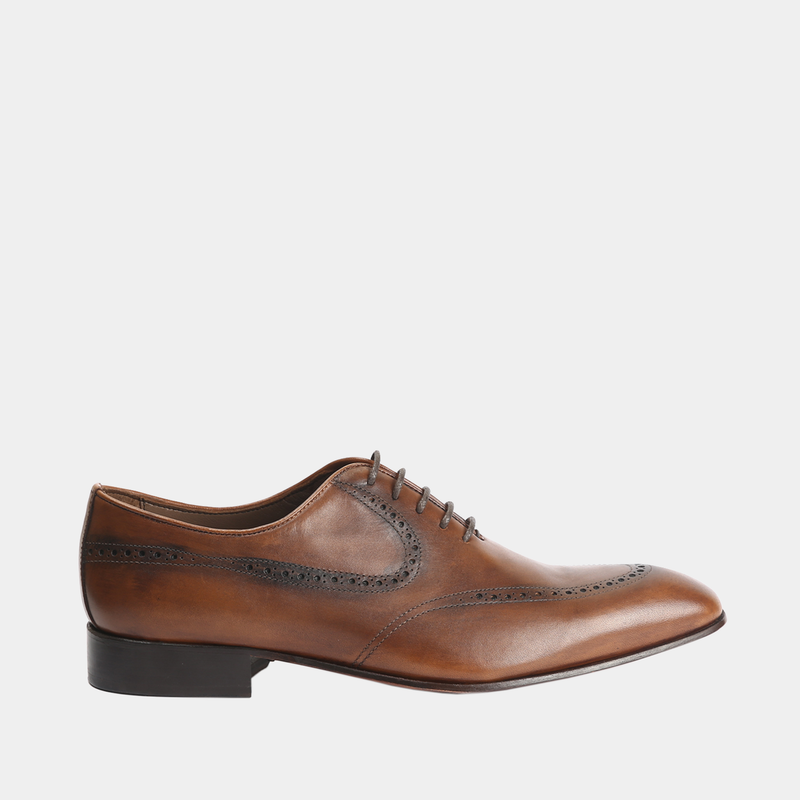 Theo-Men leather shoes tan color - Julke