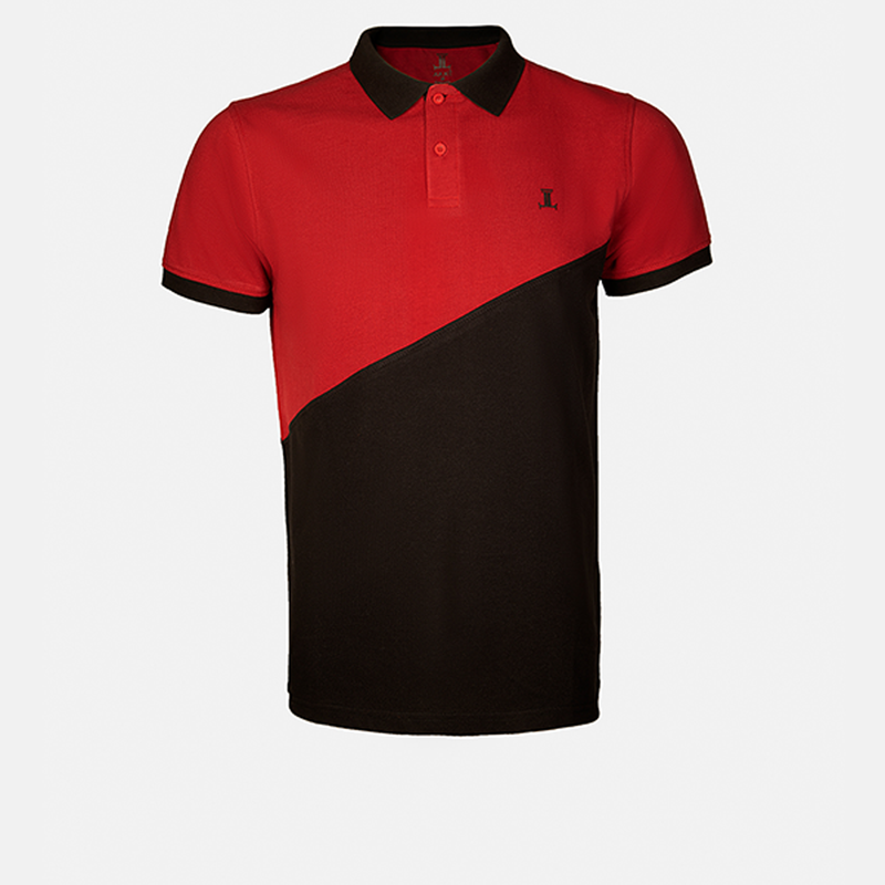 Tyler - Mens Polo Shirt in red and black color - Julke