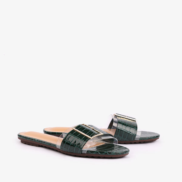 Wendy - Green color women shoes - Julke