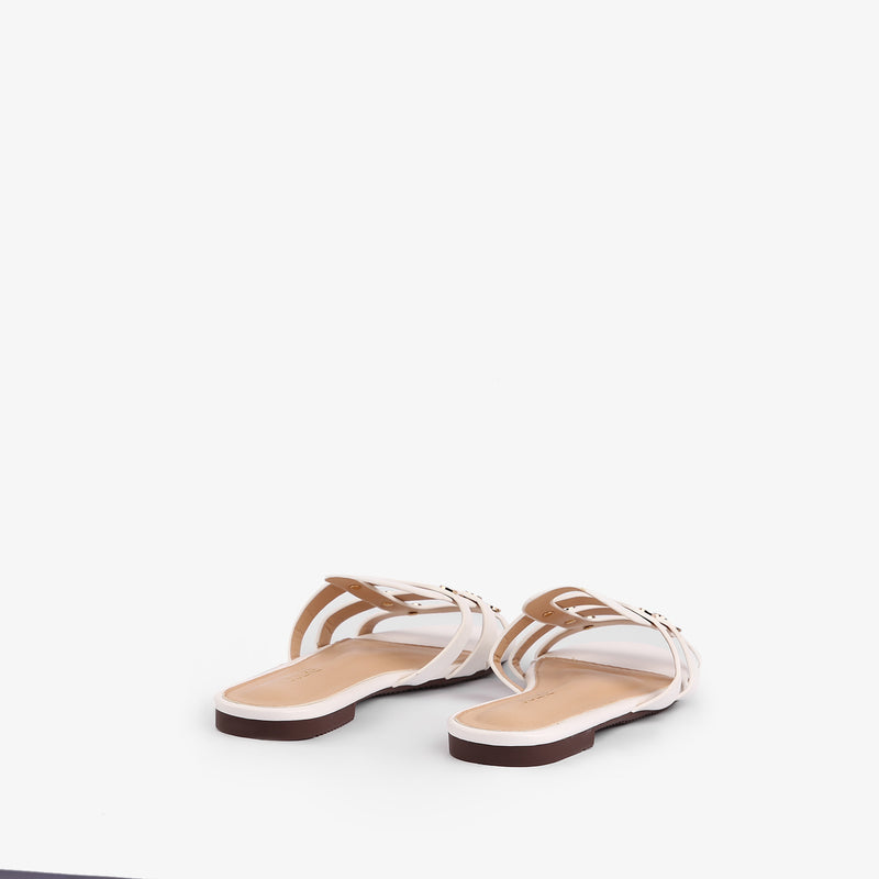 Zara - Flat Shoes for women in white color - Julke