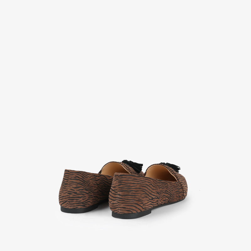 Zephyr-Women shoes-Moccasins-Flat Shoes-Brown-Back View-JULKÉ