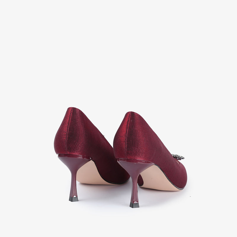 Kierra-Women shoes-Heels-Scarlet-Red-Back View-JULKÉ