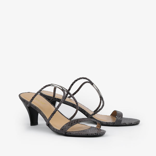 Estelle-Women shoes-Heels-Grey-Three Quarter View-JULKÉ