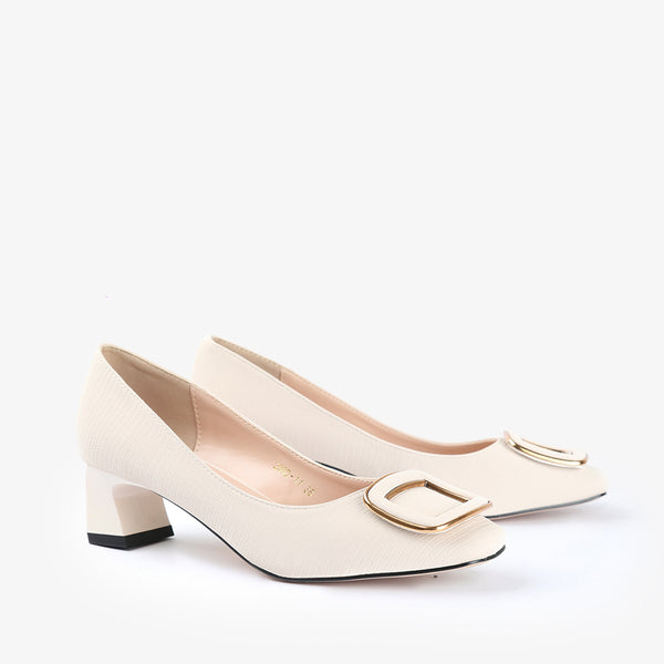 Norma-Women shoes-Block heels-White-Three Quarter View-JULKÉ