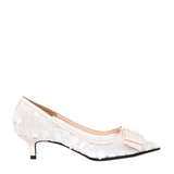 Irene - White kitten heels shoes for women - Julke