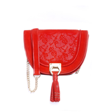 Halfmoon - Red color handbag for women - Julke