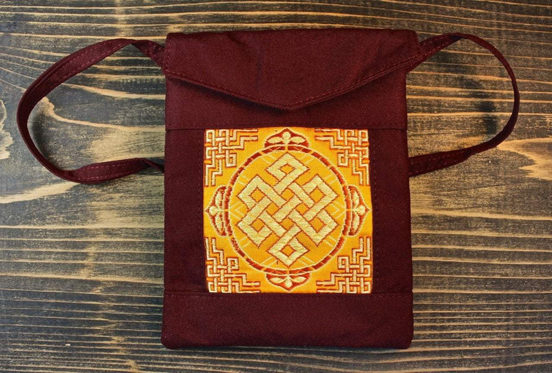 Bags Default Eternal Knot Passport Bag in Burgundy fb457
