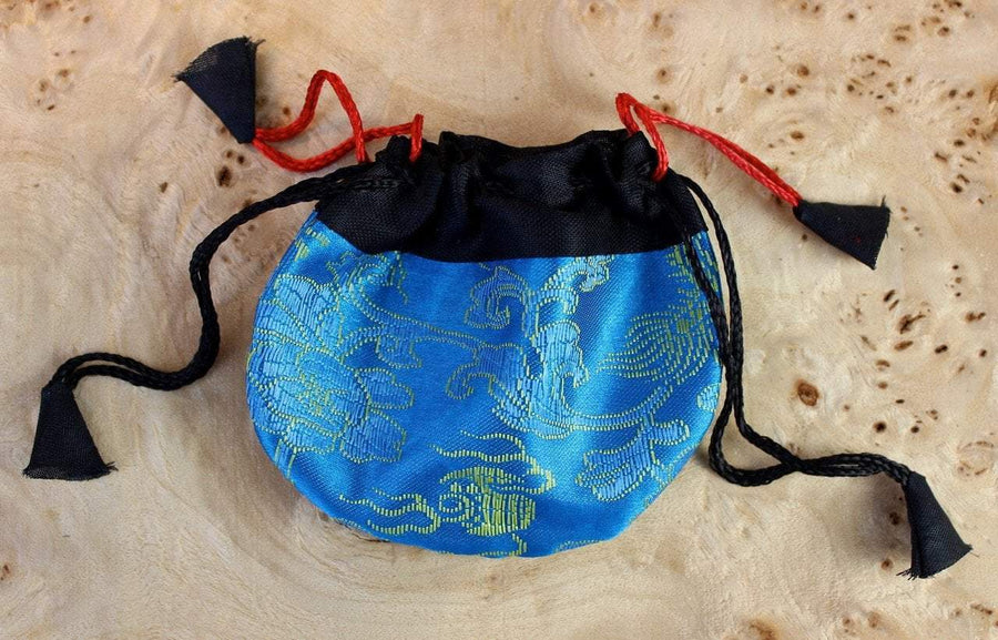 Bags Default Tiny Aqua Dragon Jewelry Bag fb183
