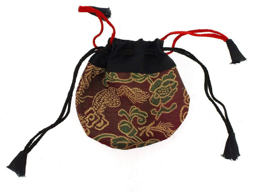 Bags Default Tiny Burgundy Dragon Jewelry Bag fb504