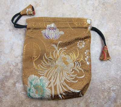 Bags,Jewelry Gold Medium Size Silk Mala Bags fb079gold