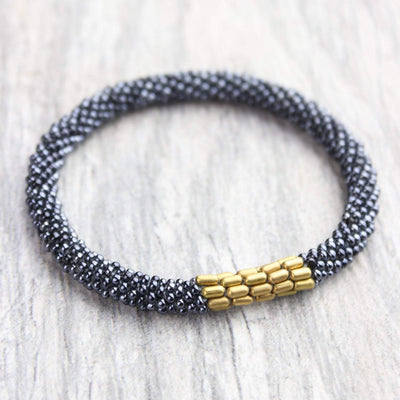 Bracelets Blue and Gold Roll-On Bracelet SW05