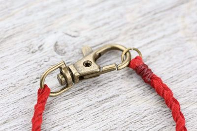 Bracelets Braided Suede Bracelet in Red