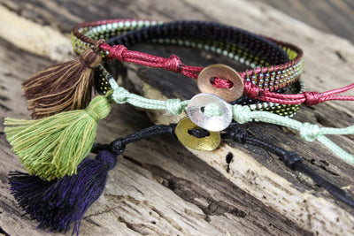 Bracelets Colorful Set of Three Beaded Bracelets JB708