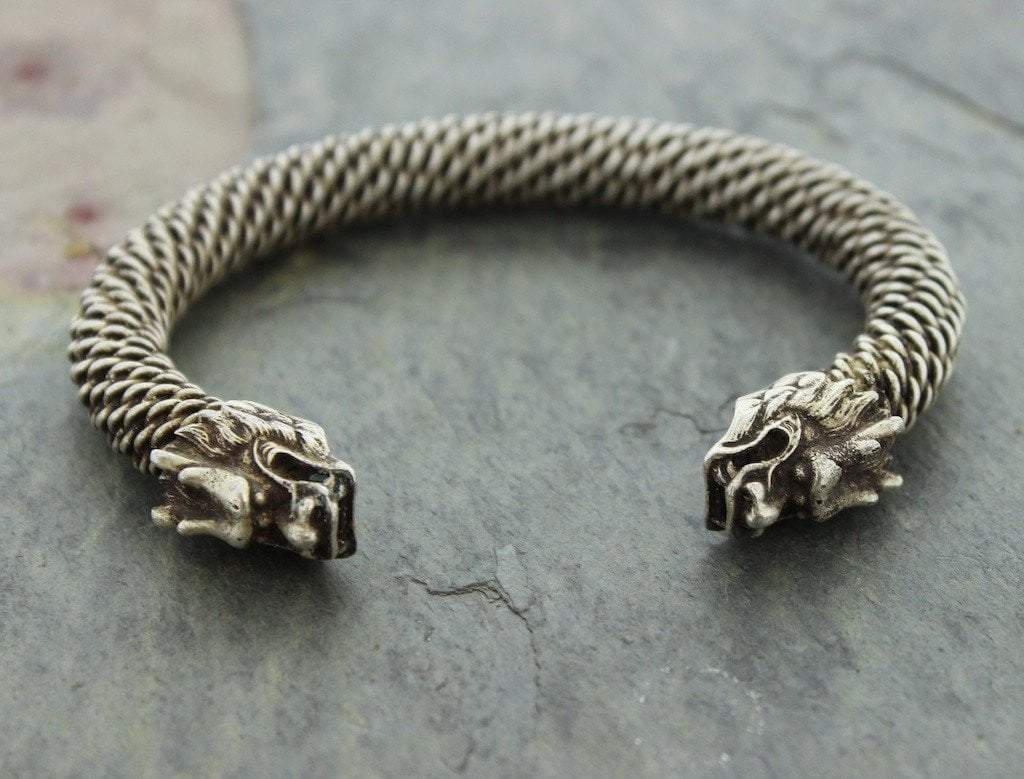 Bracelets Default One of a Kind Vintage Miao Dragon Bracelet mens201