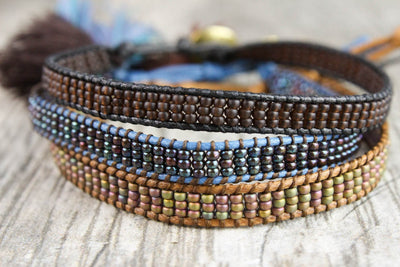 Bracelets Earth Tone Beaded Bracelet Set JB709