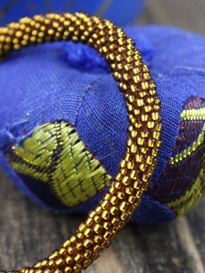 Bracelets Earthquake Relief Beaded Bracelet in Gold JB748