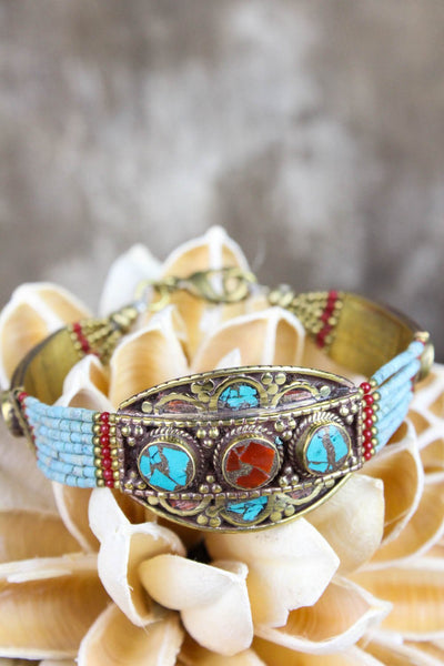 Bracelets Great Wisdom and Courage Tibetan Bracelet JB702